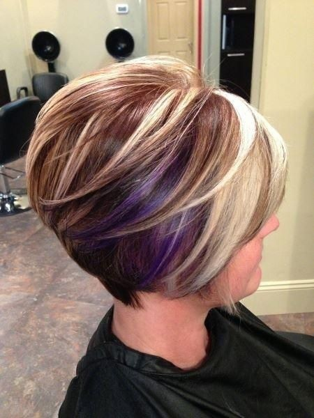 Incredible Short Graduated Bob Hairstyle With Purple For Medium To Thick Hair Hairstyle Inspiration Daily Dogsangcom