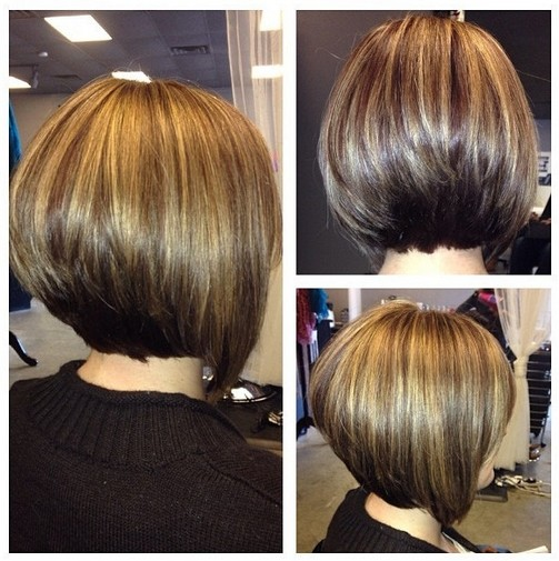 Daily Hair Ideas: Stacked Bob Hairstyle for Women (Side & Back View ...