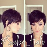 Textured Pixie Cut with Bangs for medium to thick hair
