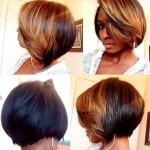 Trendy Two Tone Short Haircut for Black Women