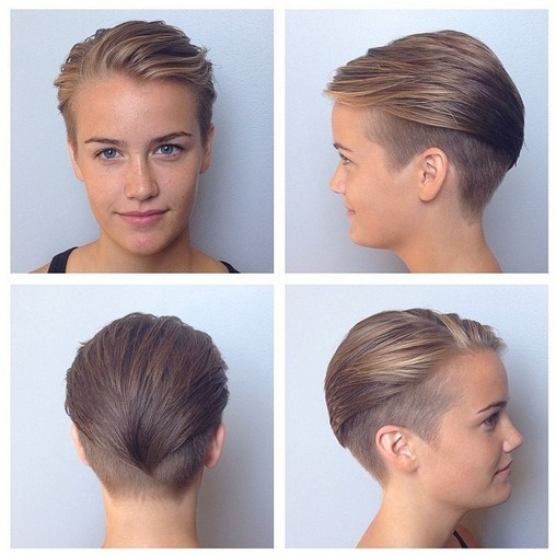 Undercut Short Haircut For Women Wet Styles Hairstyles Weekly