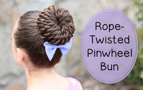 easy-to-do pinwheel bun for prom