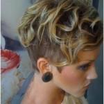 short wavy curly pixie cut for women