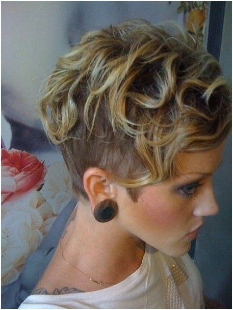 short wavy curly pixie cut for women