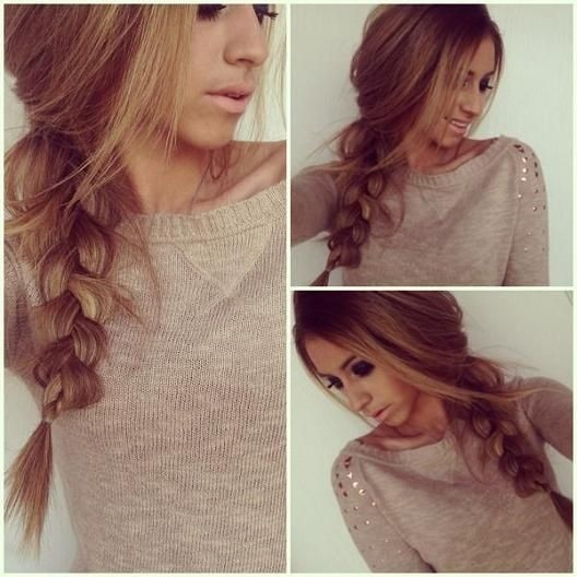 Casual-Braid-Hairstyle-Thick-Hair