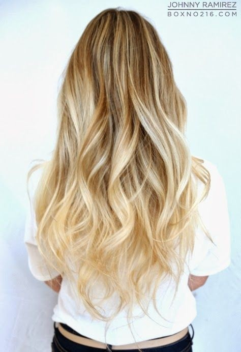 Cute-Long-Wavy-Hair-Ombre-Hairstyles-2014-2015