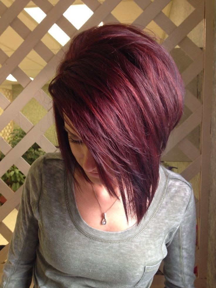 Red Bob with Purple Tints