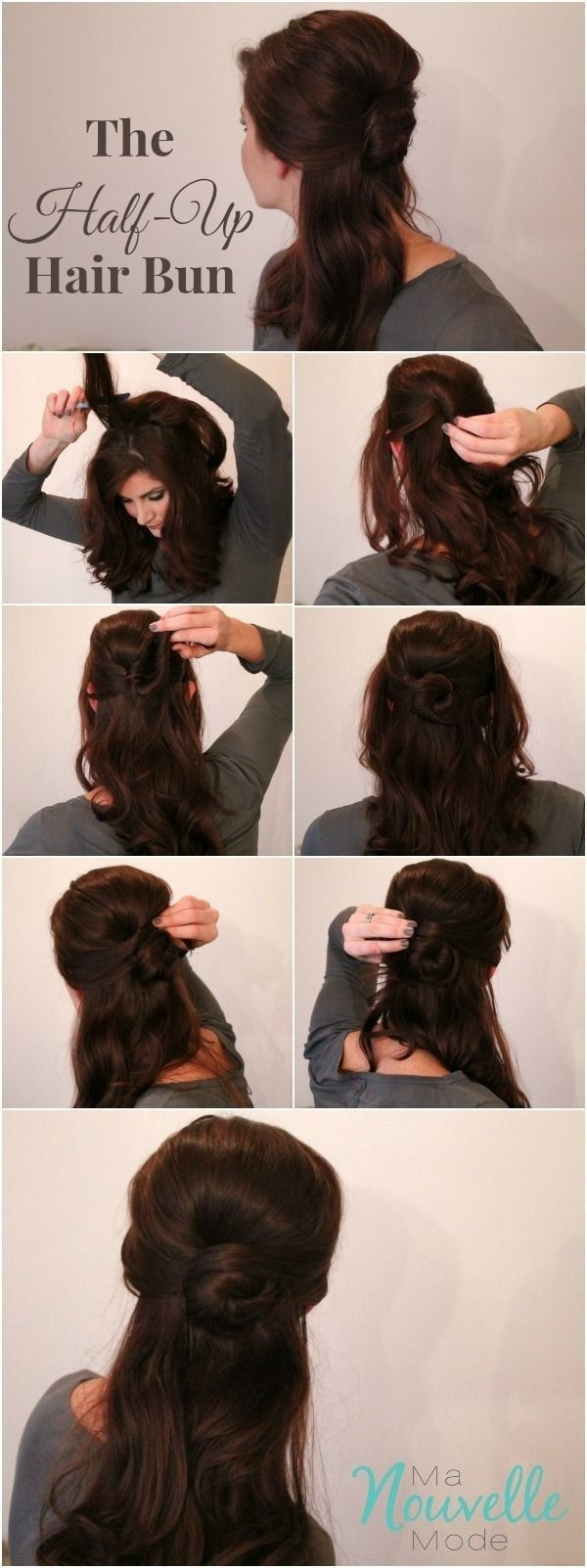 22 Half Up Half Down Hairstyles Easy Step By Step Hair