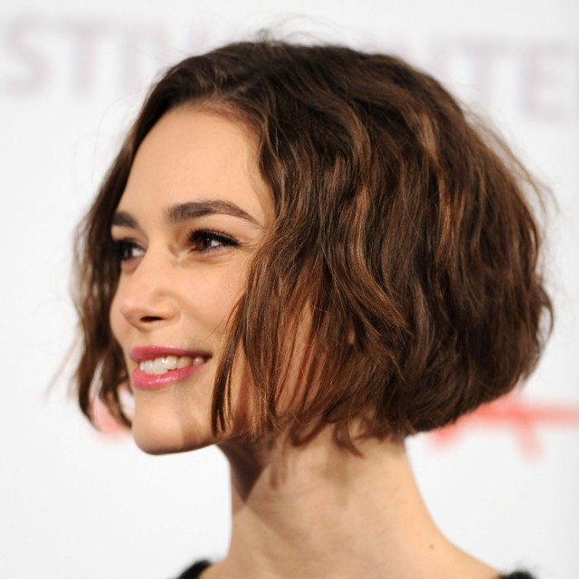 Cute tousled curly bob hairstyle for thin hair
