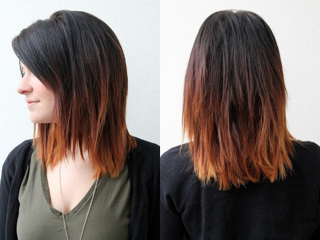 Medium ombre hair color ideas for fall