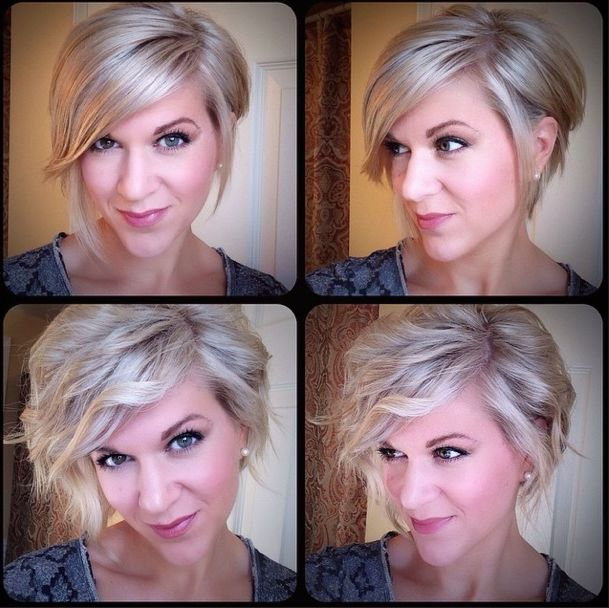 Soft wavy Chic Asymmetrical Bob hairstyle for busy mom