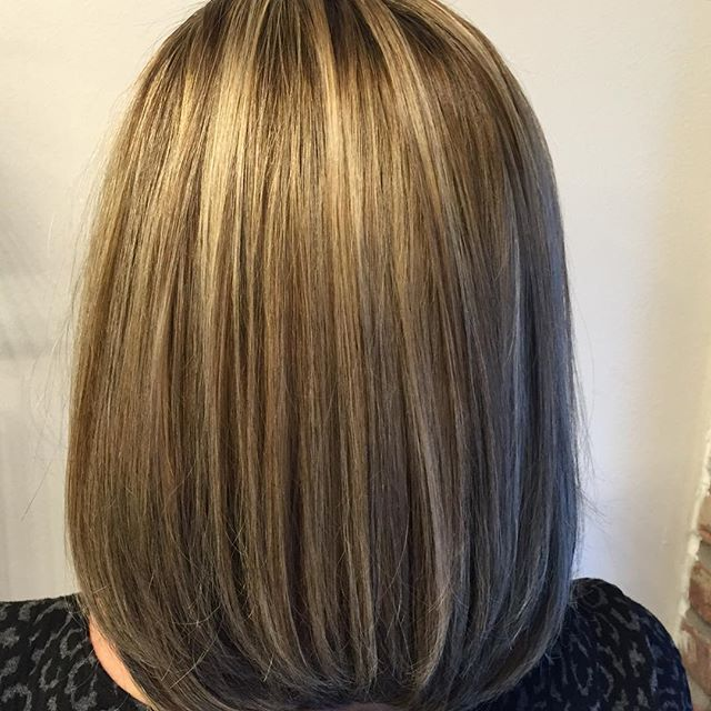 Textured straight bob hairstyle