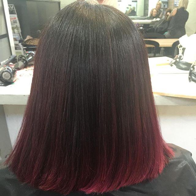 short straight ombre bob cut