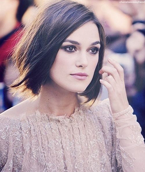 dark bob haircut for thin hair