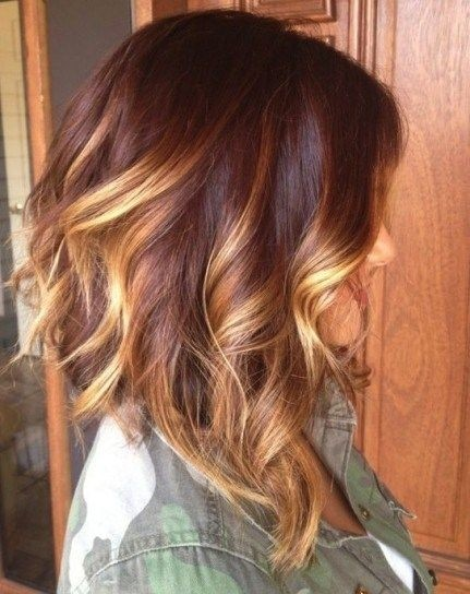 layered medium ombre hairstyle for women