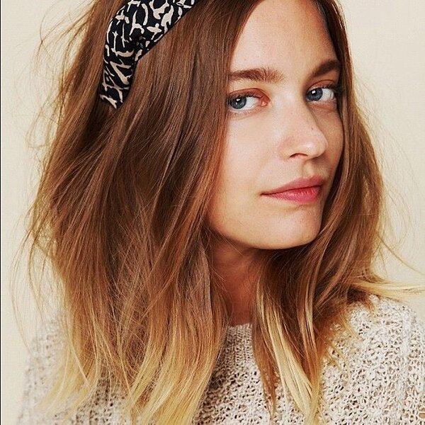 perfect brunette to blonde ombre hairstyle for thin hair