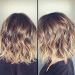 short ombre wavy bob haircut for women