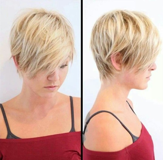 textured short pixie cut for medium and thick hair