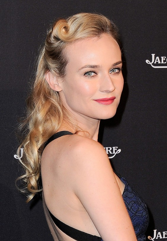 Diane Kruger 1960s Retro Hairstyle For Square Faces Hairstyles Weekly