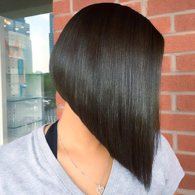 Prime 22 Popular Angled Bob Haircuts You39Ll Want To Copy Hairstyles Weekly Hairstyles For Women Draintrainus