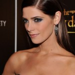 Ashley Greene side parted long sleek hairstyle