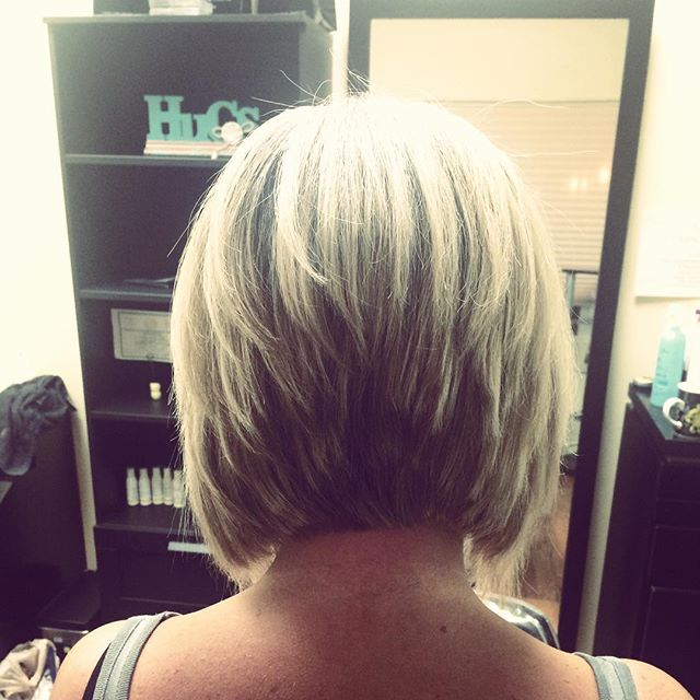 Back View Of Short Stacked Bob Hairstyles
