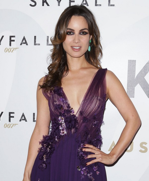 Berenice Marlohe Long Wavy Hairstyle for Square Faces