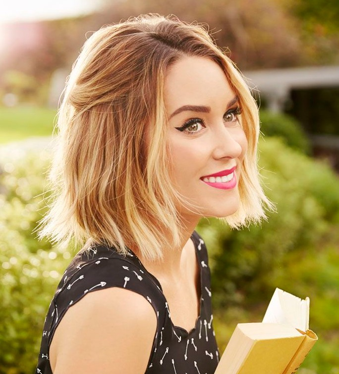 Celebrity Lauren Conrad Short Choppy Bob Haircut Color Hairstyles
