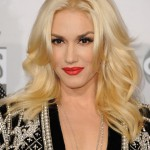 Celebrity long blonde wavy hairstyle Gwen Stefani