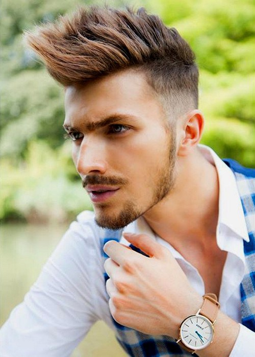 Cool spiked haircut for men - Faux Hawk
