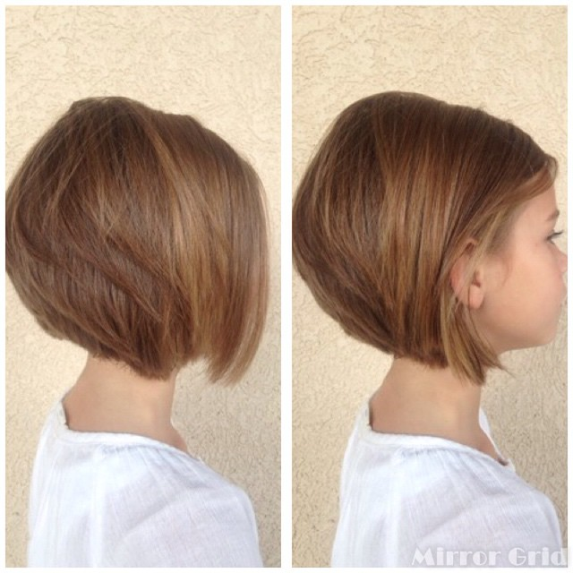 Cute Short Stacked Bob Hairstyles for little girls