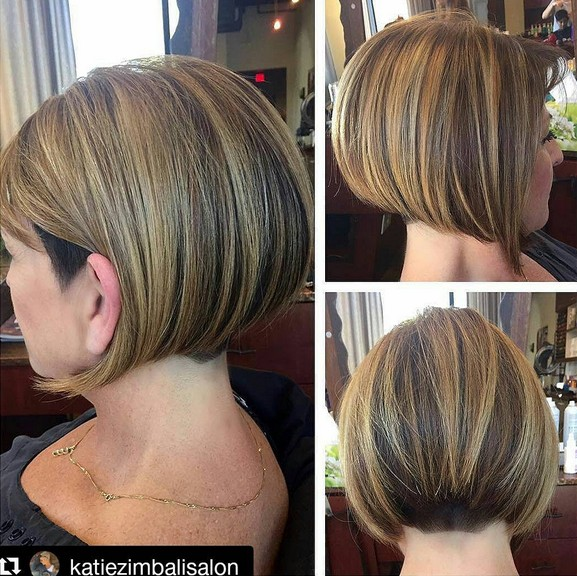 Cute Short Inverted Bob Haircut For Women Over 40