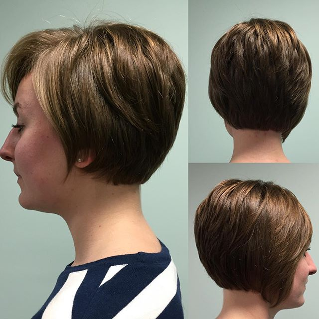 Daily Short Haircut For Women Over 40 Stacked Bob Hairstyles 045