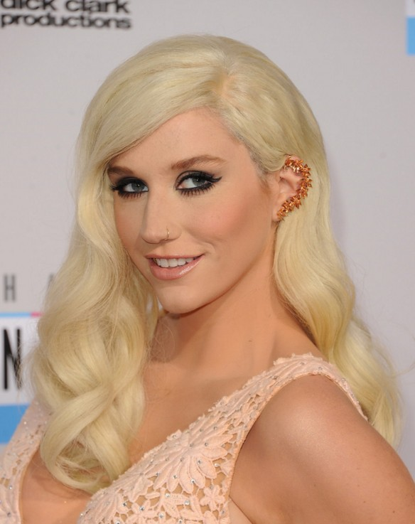 Kesha Long Blonde Wavy Hairstyle