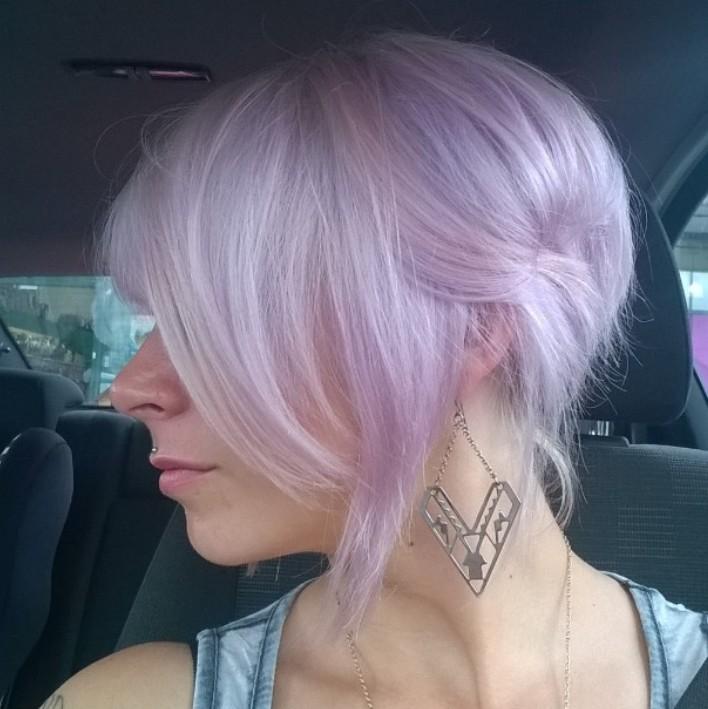 Light Pink Hair Dark Roots