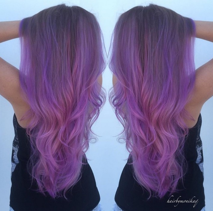 Pastel Purple Hair Extensions Hairstyles Weekly