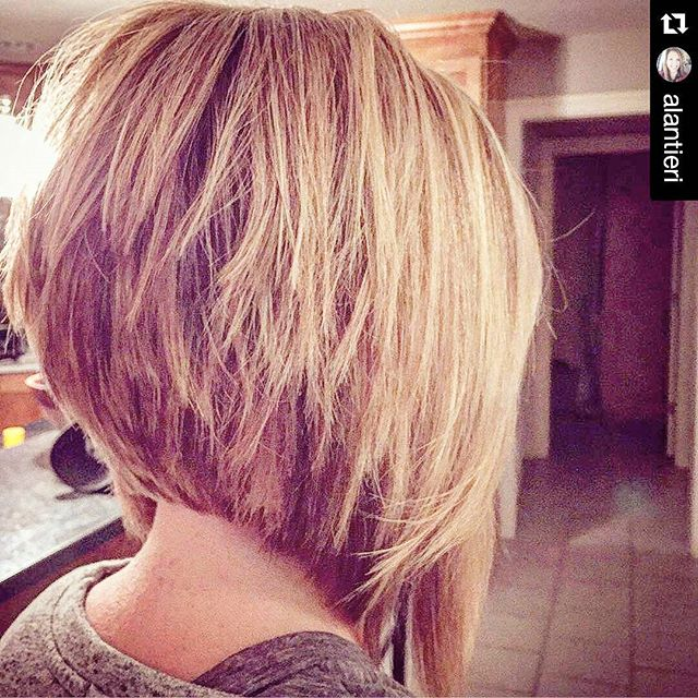 Short Layered Stacked Bob Hairstyle