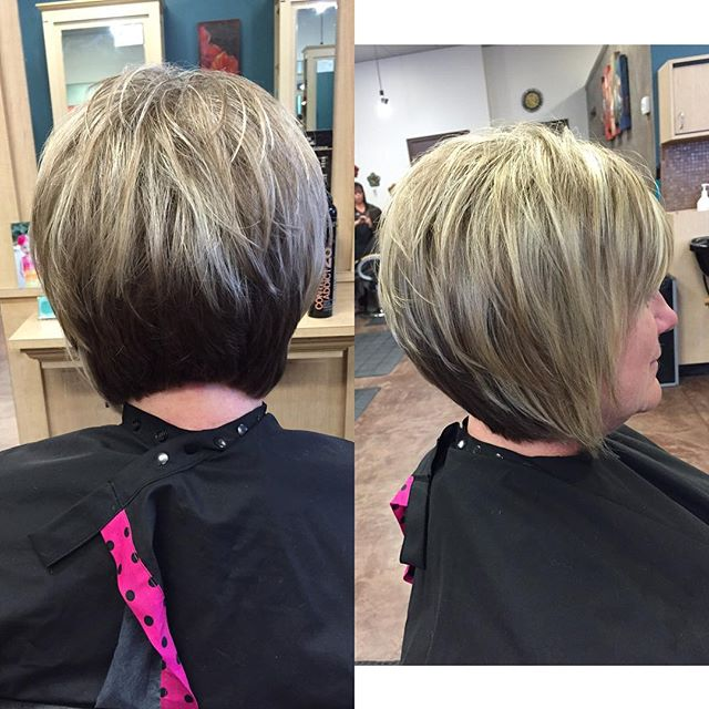Short Stacked Bob Haircuts for women over 50