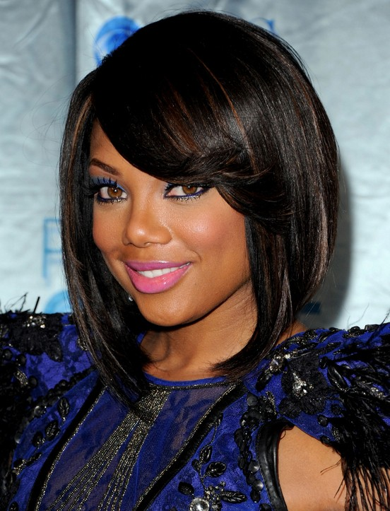 Tiffany Hines layered Short Bob Hairstyle for black women