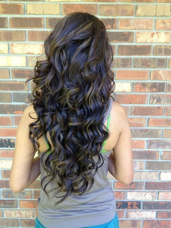 Back View Of Layered Permed Hairstyle For Long Hair Hairstyles Weekly
