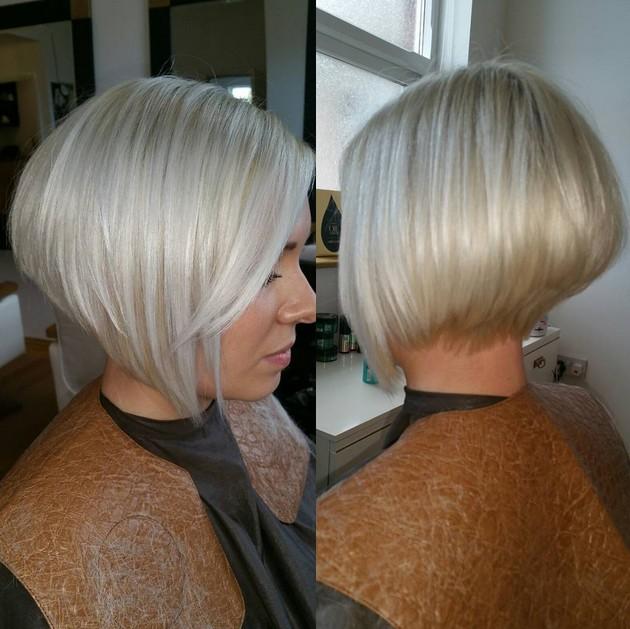 Blonde Graduated Bob Haircuts