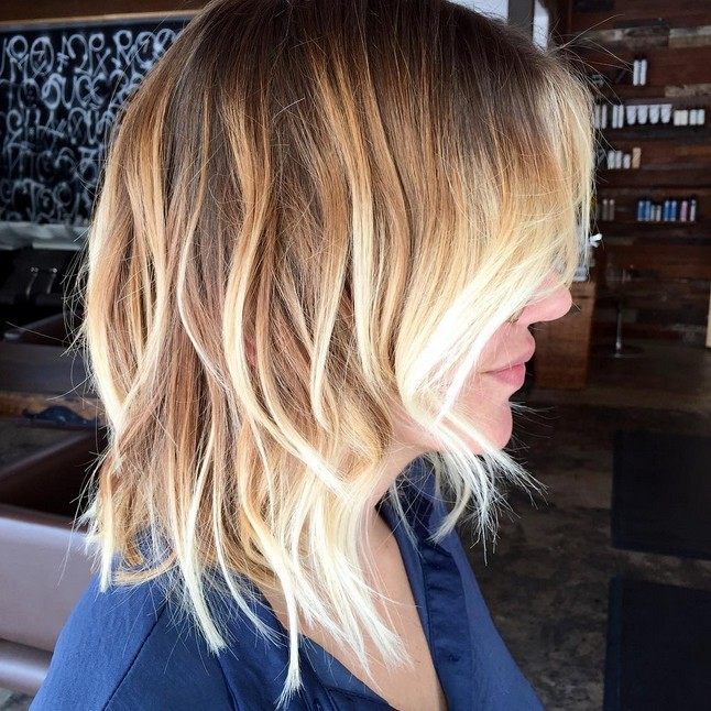 choppy bob hair styles ombre hair color