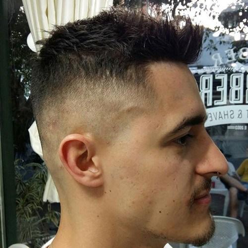 cool short cut for men - Faux Hawk