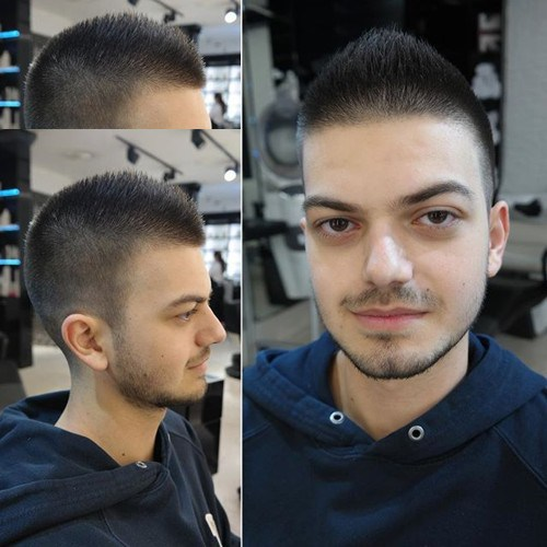 cool short haircut for men - Faux Hawk