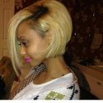 cute asymmetrical bob hairstyle for black women