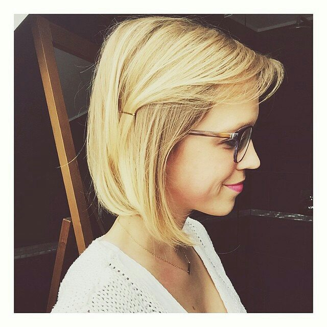 cute blonde bob hairstyle for fine thin hair - Hairstyles Weekly