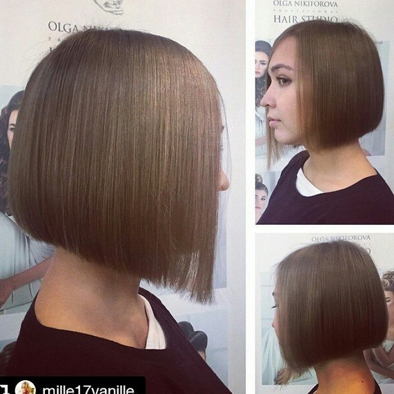 Cute Short Brunette Straight Bob Haircut For Fine Thin Hair Hairstyles Weekly