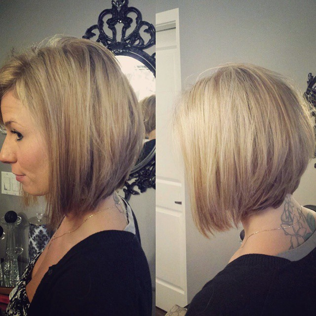 cute short inverted bob hairstyle for fine thin hair - Hairstyles Weekly