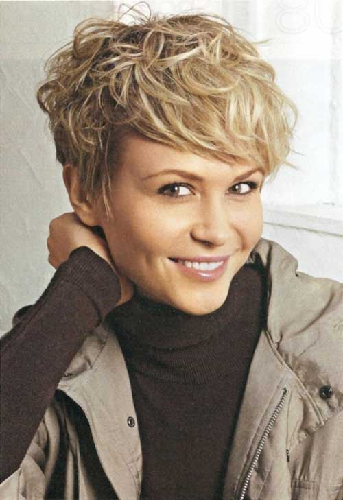 Cool 19 Cute Wavy Amp Curly Pixie Cuts We Love Pixie Haircuts For Short Short Hairstyles Gunalazisus