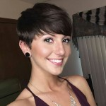 easy daily short haircut - pixie cut with bangs
